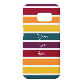 Customisable Text Sunset Stripes