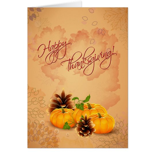 Customisable Thanksgiving Card with Pumpkins