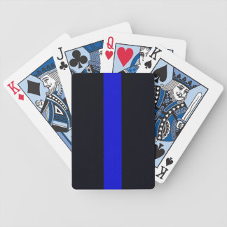 Customisable Thin Blue Line Playing Cards