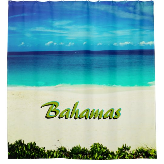 Customisable Tropical Beach Shower Curtain