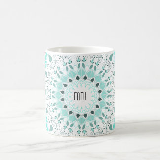 Customisable Turquoise Art Deco Mandala Mug