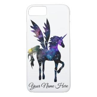 Customisable Unicorn Pegasus Watercolor Space Case