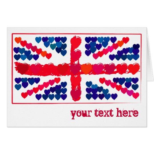 Customisable: Union hearts Card