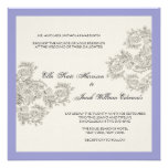 Customisable Vintage Inspired Wedding Invite