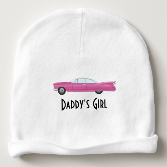 Customisable Vintage Pink Cadillac Baby Beanie