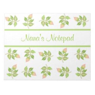 Customisable Vintage Pink Rosebuds Notepad, Jotter