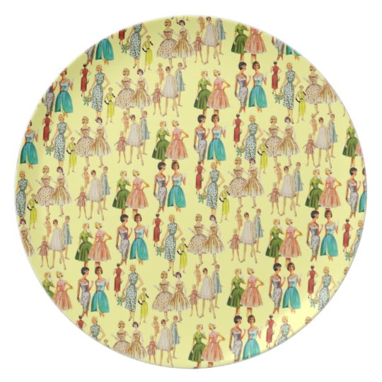 Customisable Vintage Retro Fashion Plate