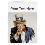 Customisable Vintage Uncle  Sam