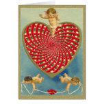 Customisable Vintage Woven Heart and Cherubs Cards