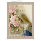 Customisable Virgin Mother Mary with Rosary Card