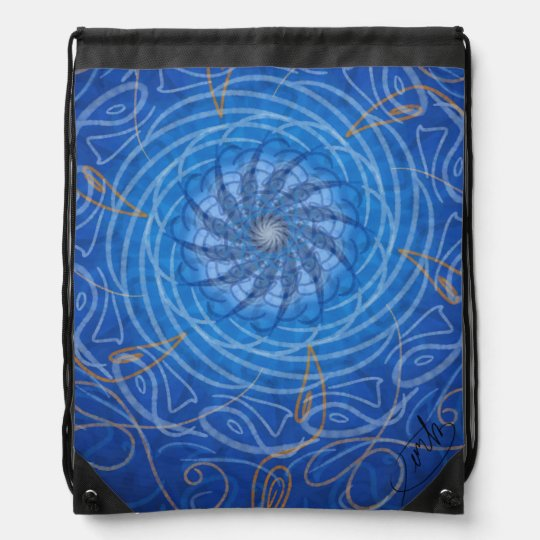 Customisable Water (Psychedelic spirograph) Drawstring Bag