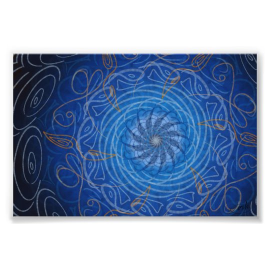 Customisable Water (Psychedelic spirograph) Poster