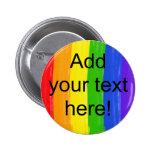 Customisable Watercolor Rainbow 6 Cm Round Badge