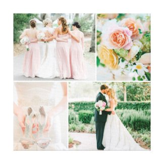 Customisable Wedding Photo Collage Canvas Print