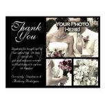 Customisable Wedding Thank You Card 3 Photos