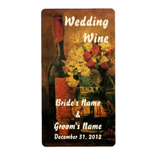 Customisable Wedding Wine Label