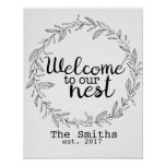 Customisable Welcome to Our Nest print