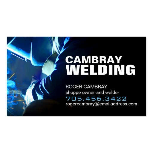 Customisable welding business cards zazzle for Welding business card ideas