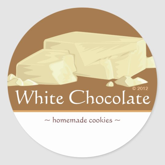 Customisable White Chocolate Stickers
