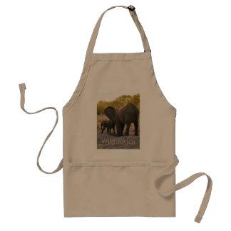 Customisable Wild African Elephants Photoprint Standard Apron
