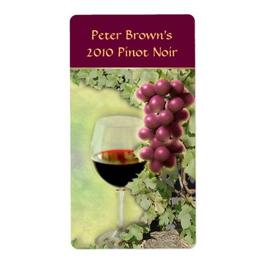 Customisable Wine Label