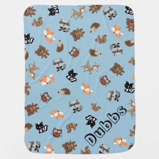 Customisable Woodland Baby Mashup Baby Blanket