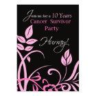 Customisable Year 10, Ten Year Cancer Survivor Par Card