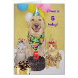 Customisable Year Kid's Birthday Greeting Card