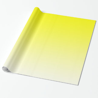 Customisable Yellow Fade Wrapping Paper