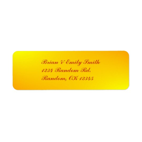 Customisable yellow splash professional labels