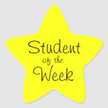 Customisable Yellow Star Student Of The Week Star Sticker