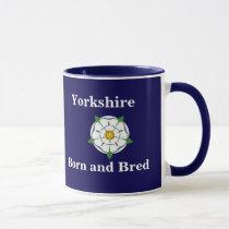 "Customisable ""Yorkshire Born and Bred"" mug"