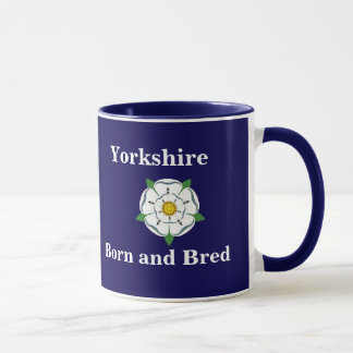 "Customisable ""Yorkshire Born and Bred"" mug"
