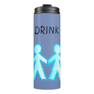 Customise 12 oz. Tumbler with Stick Men Thermal Tumbler
