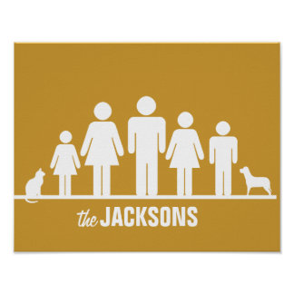 Customise a Family of Five Poster