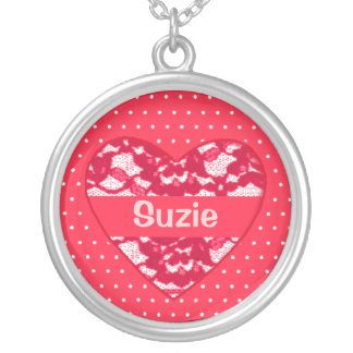Customise a Name on This Frilly Necklace