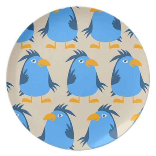 Customise Cute Blue Bird Plate