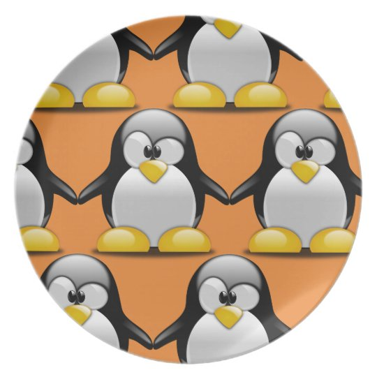 Customise Cute Penguin Party Plate for Kids