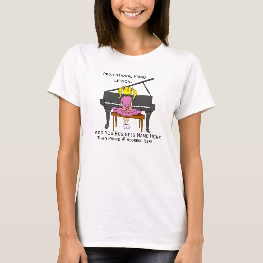 Customise Design For Piano Teachers T-shirt