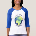 Customise Earth Day Every Day blue sparkles Globe T-Shirt