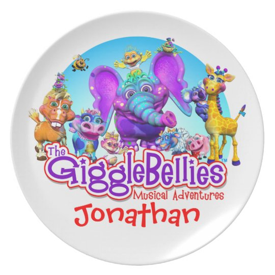 "Customise Fun Plate with ""The GiggleBellies"""