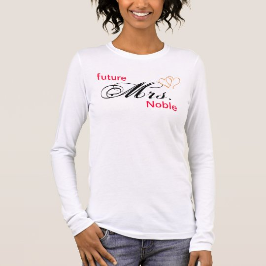"customise ""future Mrs. -----"" Long Sleeve T-Shirt"