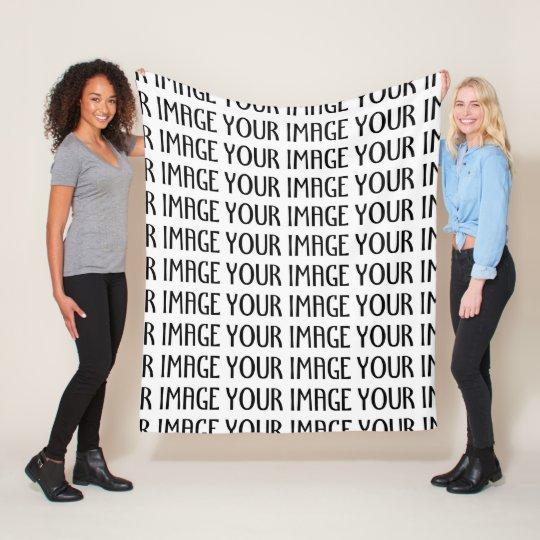 Customise it with Your photo Fleece Blanket