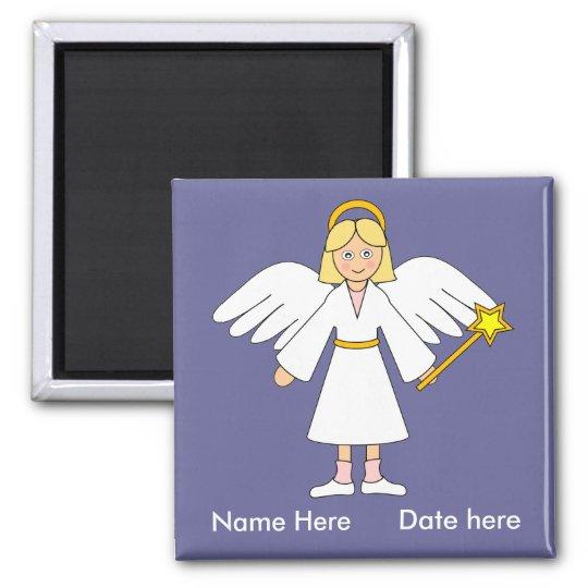 Customise Me -- Children's Nativity Angel Square Magnet