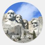 Customise Mount Rushmore National Memorial photo Round Sticker