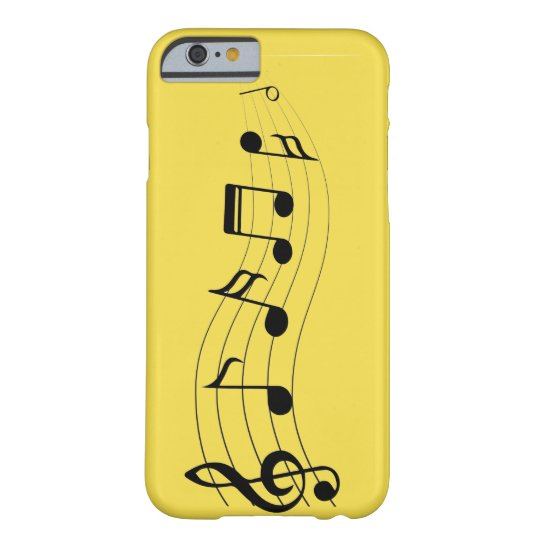 Customise Musical Notes Barely There iPhone 6 Case