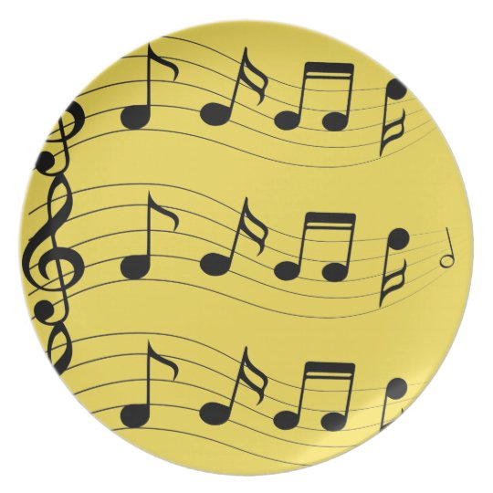 Customise Musical Notes Plate