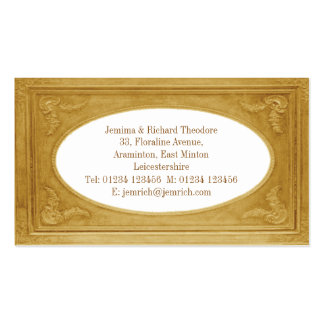 Customise Pale Gold Border Pack Of Standard Business Cards
