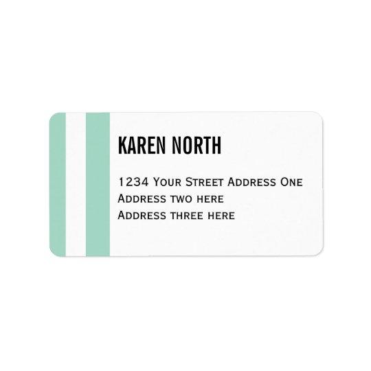 Customise Product Address Label