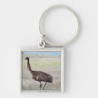 Customise Product emu walk Silver-Colored Square Key Ring